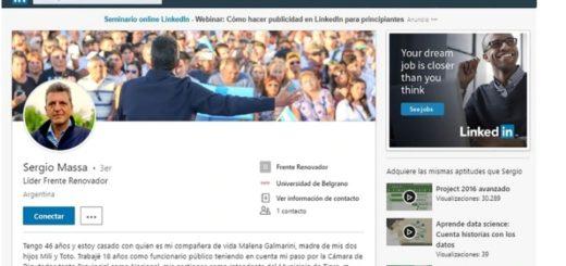 Massa estrena perfil de Linkedin y trabaja fuerte a la comunicación digital