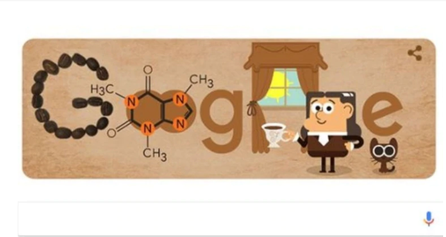 Con un doodle Google celebra el nacimiento de Friedlieb Ferdinand Runge, el químico que descubrió la cafeína