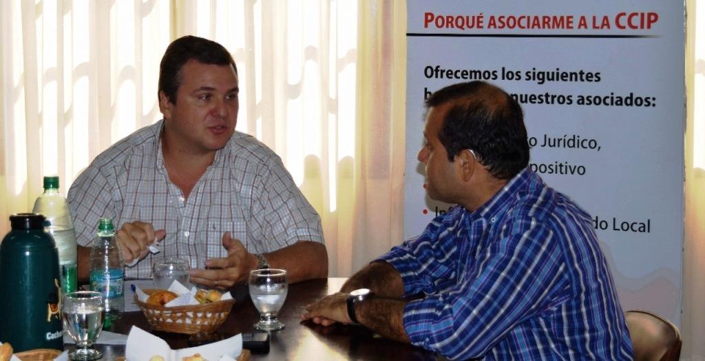 Autoridades de la Cámara de Comercio propusieron al vicegobernador Oscar Herrera Ahuad acciones para dinamizar la economía