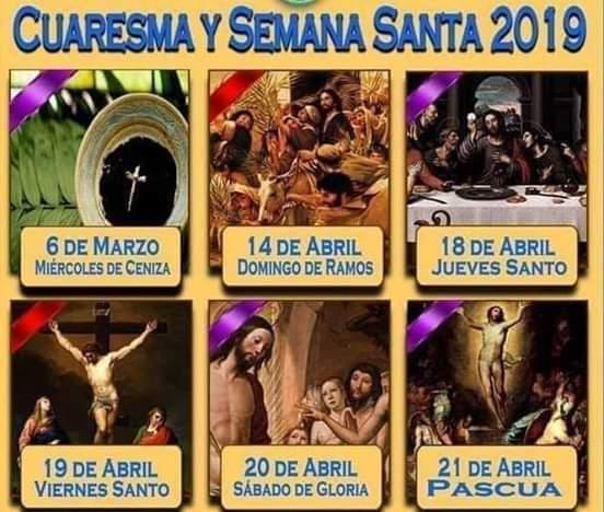 Estas son las fechas de la #SemanaSanta2019