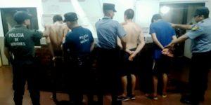 Tras descomunal desorden la Policía detuvo a tres jóvenes y secuestró un arma de fuego en Posadas