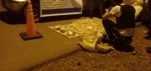 San Ignacio: en control vial la Policía incautó un auto robado cargado con marihuana