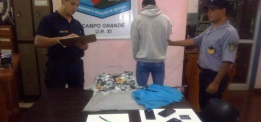 Detuvieron a dos jóvenes acusados de amenazar y robarle a punta de cuchillo a una mujer en Campo Grande
