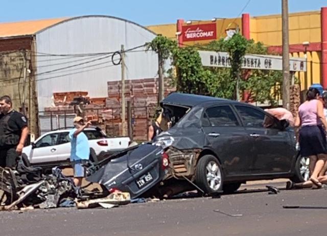 Accidente fatal en Posadas: el conductor del Toyota tenía más de 1 gramo de alcohol en sangre y permanece detenido