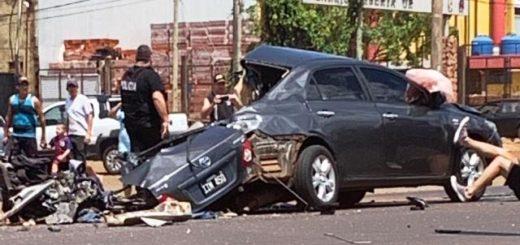 Grave accidente entre un colectivo y un automóvil dejó una persona fallecida en Posadas