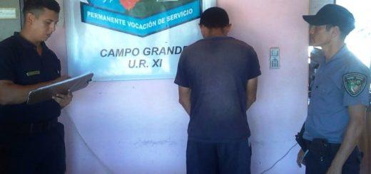 Fue detenido por amenazar con un cuchillo a su hermana en Campo Grande
