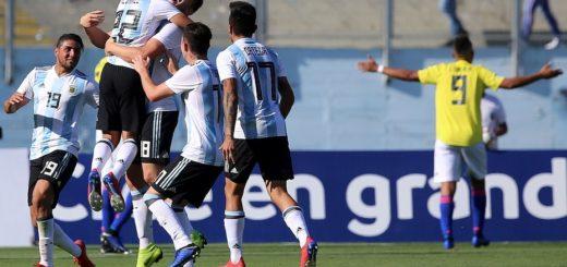 Sudamericano Sub 20: frente a Colombia, Argentina logró su primer triunfo en el hexagonal