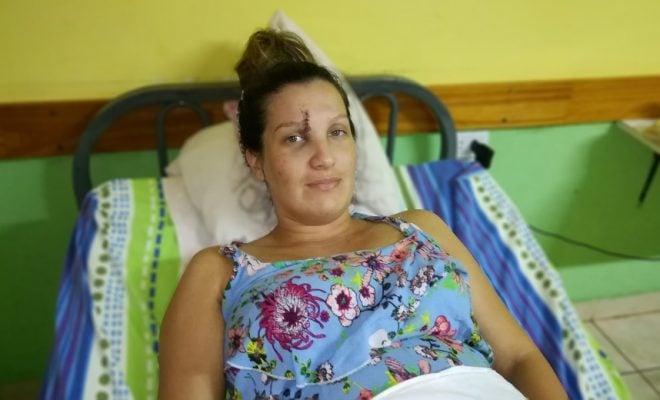 Alem: una embarazada de 7 meses terminó hospitalizada tras una brutal paliza que le propinó su ex marido, ahora teme por su vida