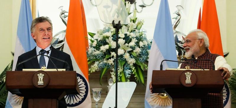 Macri: «La Argentina es un proveedor confiable y competitivo de alimentos para los consumidores indios»