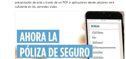 Misiones se adhiere a la normativa de llevar la póliza del seguro en el celular y exhibirla en controles viales