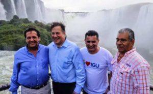 El presidente de Panamá visitó Cataratas del Iguazú, una de las 7 Maravillas Naturales del Mundo