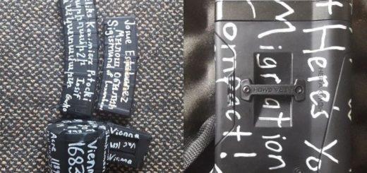 Qué significan las extrañas inscripciones en las armas del autor de la masacre