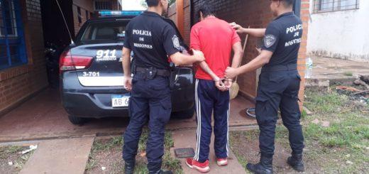 """Posadas: detuvieron a """"Kiki Naka"""" por un hecho de robo a una jovencita en una parada de colectivos"""