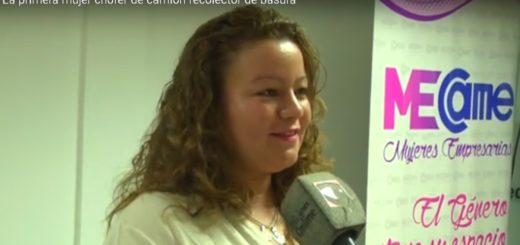 Entregaron reconocimiento a la primera mujer en conducir un camión recolector de basura en Posadas