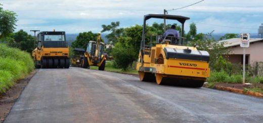Vialidad Provincia comenzó a pavimentar calles de Alem