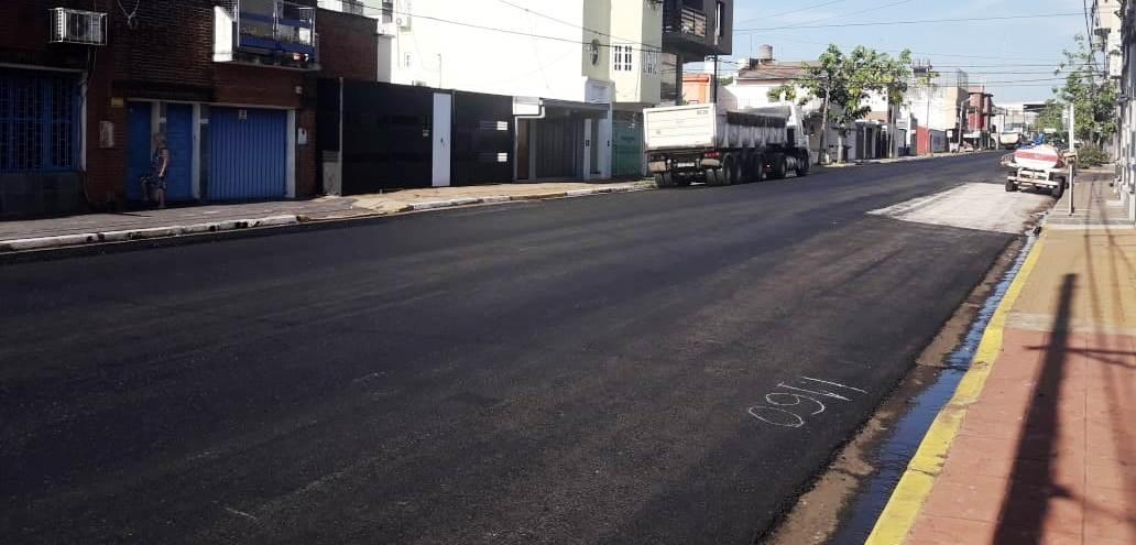 Vialidad terminó la repavimentación de la calle Santa Fe de Posadas