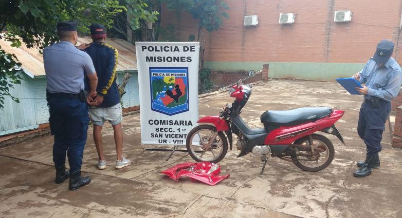 San Vicente: intentó robar una motocicleta y fue detenido