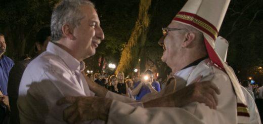 Passalacqua participó de la misa en honor a San José y por el 25° aniversario como obispo de Juan Rubén Martínez