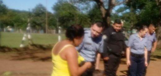 El Soberbio: policías ayudaron a una mamá a encontrar a su hijo de 3 años