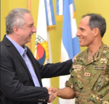 Passalacqua recibió al Coronel Aldo Daniel Ferrari, Jefe del Comando de Brigada de Monte XII del Ejército