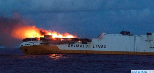 Alerta en Francia: se hundió un buque con 45 contenedores que transportaban materiales peligrosos