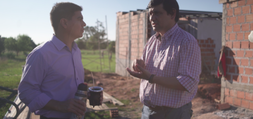 Presupuesto Participativo: Losada supervisó las obras del SUM de Villa Bonita