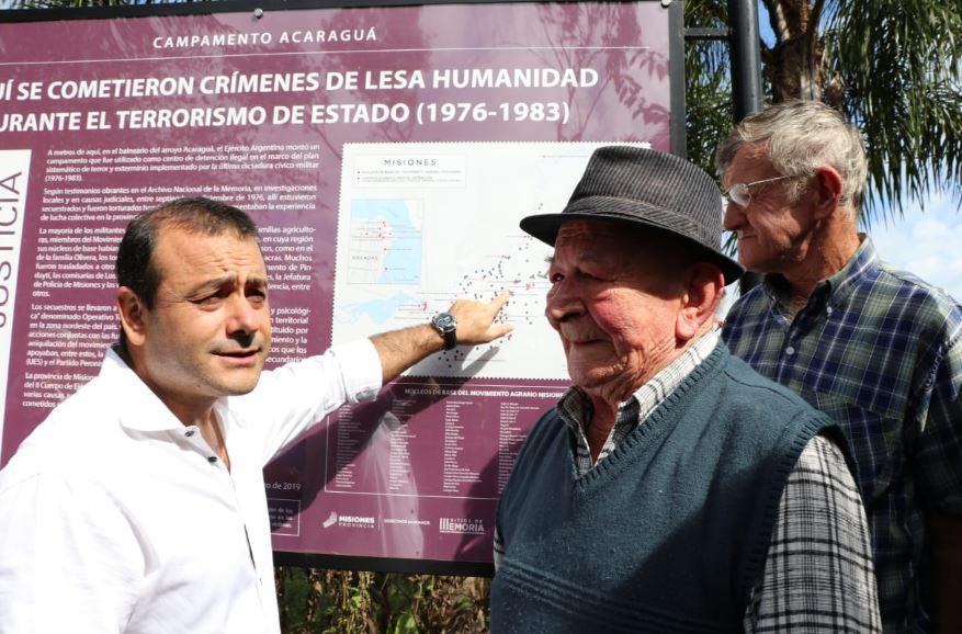 Campo Grande: con la presencia de Oscar Herrera Ahuad, se hizo la señalización del Campamento Acaragua