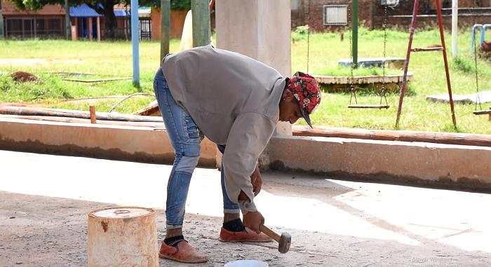 Presupuesto Participativo: avanzan las obras en el playón deportivo de la Chacra 123 de Posadas