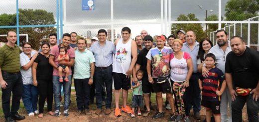 Presupuesto Participativo: Joaquín Losada y Oscar Herrera Ahuad inauguraron las obras de la Chacra 160