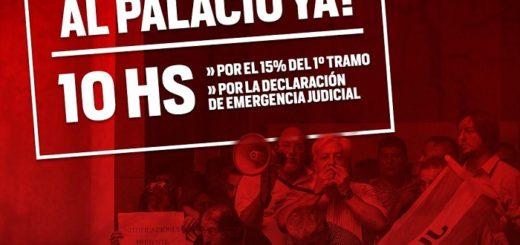 La Unión de Empleados de la Justicia de la Nación realizará una movilización en Buenos Aires y asambleas en Misiones como en el interior del país por mejoras salariales
