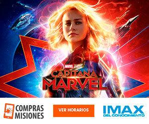 Con récord de público, desde hoy Capitana Marvel vuelve al IMAX de Posadas…Adquirí aquí las entradas por Internet
