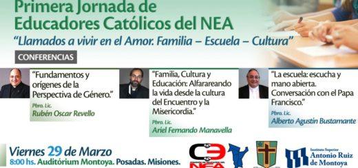 El 29 de marzo se realizará la Primera Jornada de Educadores Católicos del NEA en el Instituto Montoya de Posadas