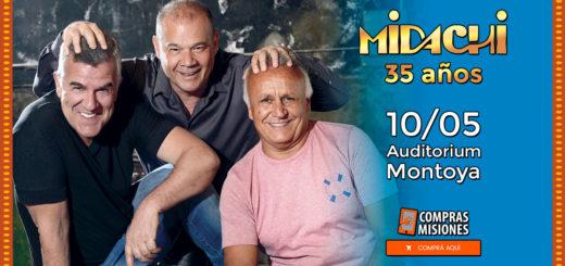 Midachi en Posadas para festejar sus 35 años: Alta demanda de entradas...Ingresá aquí y adquirilas por Internet
