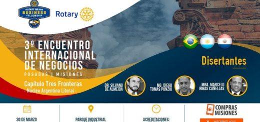 El tercer Encuentro Internacional de Negocios organizado por Rotary Means Business se desarrollará en Posadas