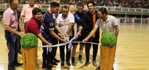 Wanda: inauguraron nuevo piso de parqué en el Polideportivo donde se jugarán partidos del Mundial de Futsal