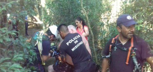 Rescataron a un hombre que sufrió un ACV y se desvaneció en el parque Provincial Salto Encantado