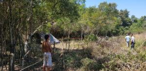 Predio ocupado del acceso Oeste en Posadas: siguen llegando familias y ya se dividieron el terreno