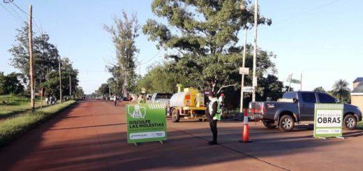 Vialidad provincial repara la avenida 147 en Itaembé Miní de Posadas