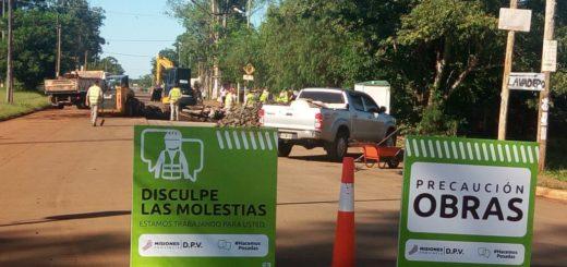 La Dirección Provincial de Vialidad realiza arreglos en calles de Posadas