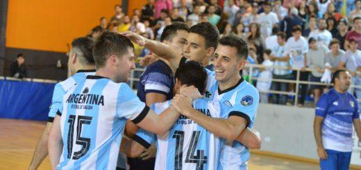 #MisionesMundialDeFutsal2019: Argentina goleó en su primer amistoso en la tierra colorada