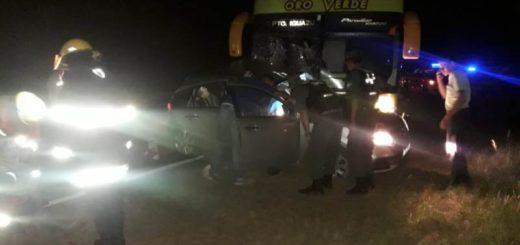Cerro Corá: choque entre un colectivo y un auto en Ruta 12 dejó como saldo un muerto