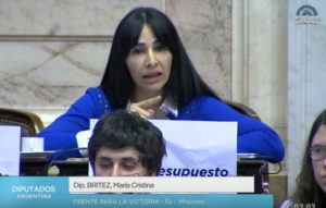 Para la diputada nacional Cristina Brítez, el discurso de Macri fue vacío y lleno de slogans de campaña