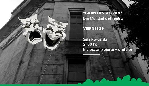 Convocan a grupos teatreros a participar de la celebración del Día Mundial del Teatro