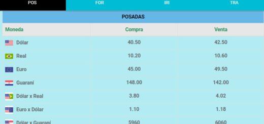 El dólar se vende a 42,50 pesos en Posadas