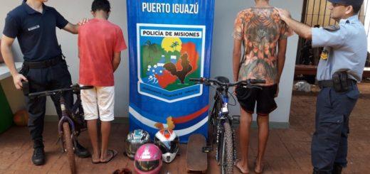 Andresito: policías detuvieron a dos jovencitos y recuperaron elementos robados