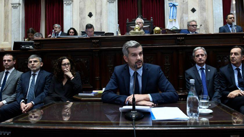 """Marcos Peña brindó su informe en el Senado y aseguró: «Estamos saliendo de la crisis"""""""