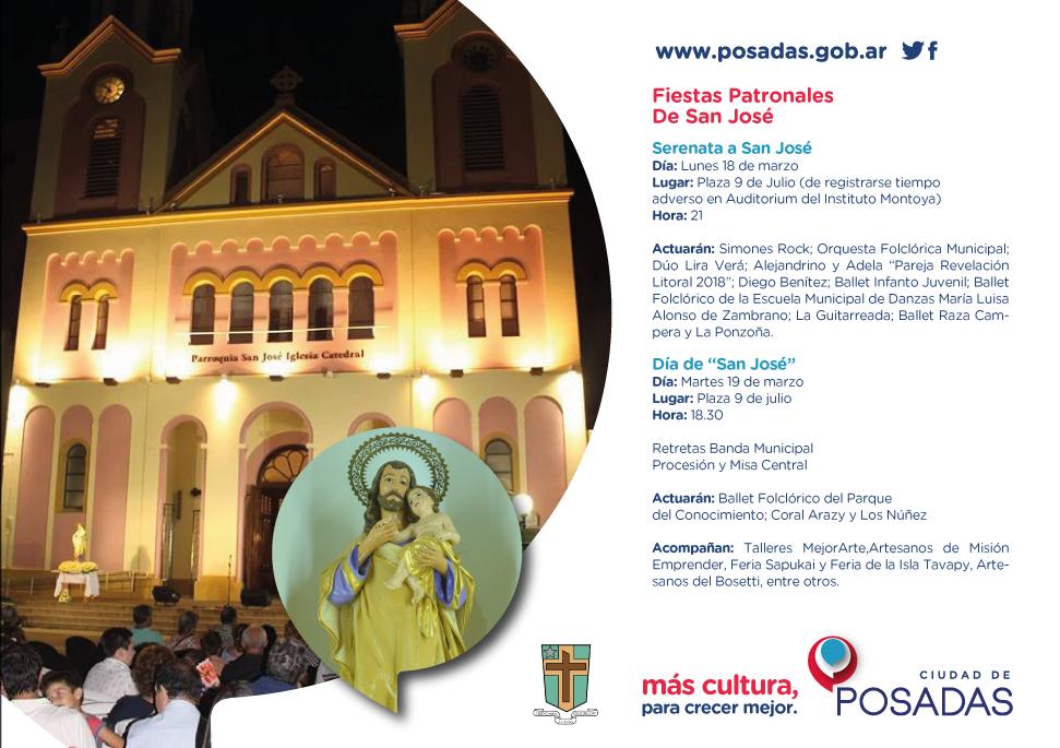 Posadas honra y celebra a su Santo Patrono: San José