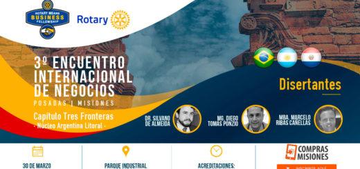 Empresarios de la región participarán en Posadas del Encuentro Internacional de Negocios organizado por la Agrupación de Rotarios RMB