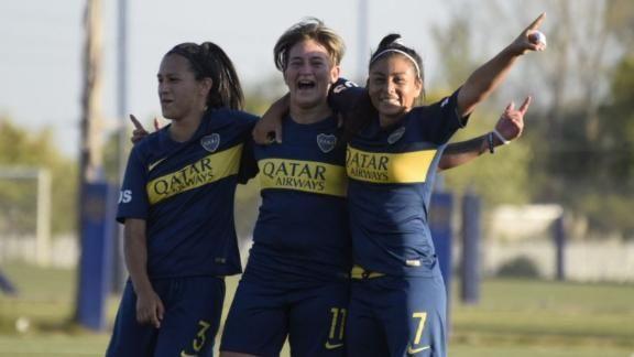 A lo Messi: la posadeña Yamila Rodríguez metió un golazo en el triunfo de Boca por 6 a 0 ante San Lorenzo
