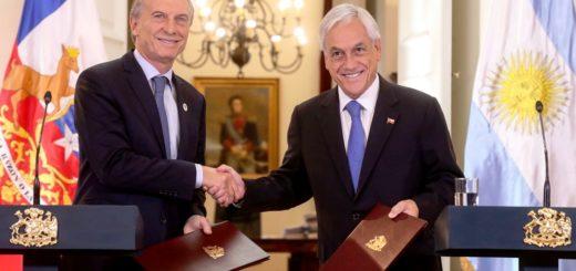 Macri y Piñera realizaron una declaración conjunta tras rubricar un nuevo acuerdo entre Argentina y Chile